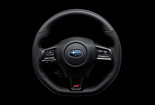<sg-lang1>Dimpled Leather-wrapped D-shaped Steering Wheel with Red Stitching</sg-lang1><sg-lang2></sg-lang2><sg-lang3></sg-lang3>